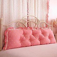 JJBZ Zurück Kissen Sofa Bett Großes gefülltes Schlafzimmer mit Doppelbett Bett Rückenlehne Kissen Lesen Kissen Büro Lendenwirbelsäule mit abnehmbarem Bezug ( Farbe : 1* , größe : 120*53cm )
