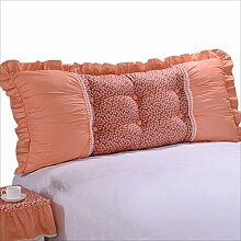 JJBZ Zurück Kissen Sofa Bett Großes gefülltes Schlafzimmer mit Doppelbett Bett Rückenlehne Kissen Lesen Kissen Büro Lendenwirbelsäule mit abnehmbarem Bezug ( größe : 145*50cm )