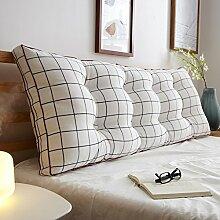 JJBZ Zurück Kissen Sofa Bett Großes gefülltes Schlafzimmer mit Doppelbett Bett Rückenlehne Kissen Lesen Kissen Büro Lendenwirbelsäule mit abnehmbarem Bezug ( Farbe : 4* , größe : 120*50cm )