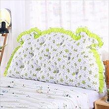 JJBZ Zurück Kissen Sofa Bett Großes gefülltes Schlafzimmer mit Doppelbett Bett Rückenlehne Kissen Lesen Kissen Büro Lendenwirbelsäule mit abnehmbarem Bezug ( Farbe : B , größe : 150*70cm )