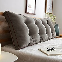 JJBZ Zurück Kissen Sofa Bett Großes gefülltes Schlafzimmer mit Doppelbett Bett Rückenlehne Kissen Lesen Kissen Büro Lendenwirbelsäule mit abnehmbarem Bezug ( Farbe : 2* , größe : 120*50cm )