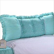 JJBZ Zurück Kissen Sofa Bett Großes gefülltes Schlafzimmer mit Doppelbett Bett Rückenlehne Kissen Lesen Kissen Büro Lendenwirbelsäule mit abnehmbarem Bezug ( Farbe : A , größe : 115*50cm )