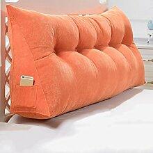 JJBZ Zurück Kissen Sofa Bett Großes gefülltes Schlafzimmer mit Doppelbett Bett Rückenlehne Kissen Lesung Kissen Büro Lendenwirbelsäule mit abnehmbarem Bezug (120 * 50 * 20cm) ( Farbe : 4* )