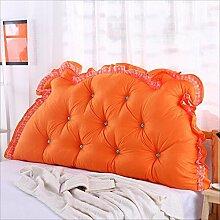 JJBZ Zurück Kissen Sofa Bett Großes gefülltes Schlafzimmer mit Doppelbett Bett Rückenlehne Kissen Lesen Kissen Büro Lendenwirbelsäule mit abnehmbarem Bezug ( Farbe : B , größe : 120*70cm )
