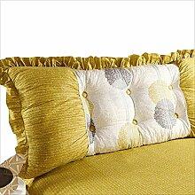 JJBZ Zurück Kissen Sofa Bett Großes gefülltes Schlafzimmer mit Doppelbett Bett Rückenlehne Kissen Lesen Kissen Büro Lendenwirbelsäule mit abnehmbarem Bezug ( Farbe : B , größe : 115*50cm )