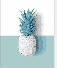 JJH Grüne Pflanze Ananas Malen Nach Zahlen Kit