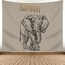 JJH Indischer Elefant Mandala Tapestry,