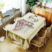 JJHR Tischwäsche 3D-Tischdecke Aus Polyester Mit
