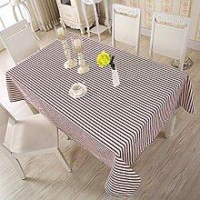 JJHR Tischwäsche Baumwollleinen Tischdecke