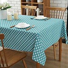 JJHR Tischwäsche Baumwollleinen Tischtuch