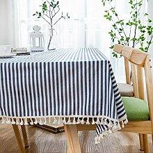 JJHR Tischwäsche Einfarbig Baumwolle Tischdecke