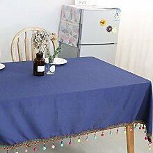 JJHR Tischwäsche Ethnische Stil Quaste Tischdecke