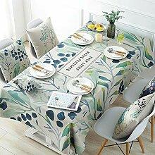 JJHR Tischwäsche Frische Natürliche Tischdecke