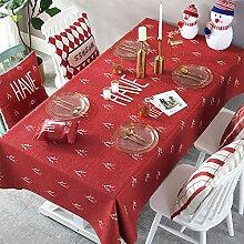 JJHR Tischwäsche Rote Tischdecke Stoff Couchtisch