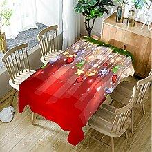 JJHR Tischwäsche Rote Weihnachtstischdecke
