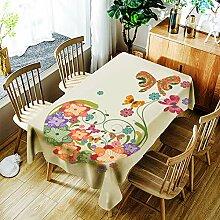 JJHR Tischwäsche Staubgedruckte Tischdecke Aus