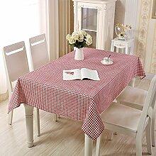 JJHR Tischwäsche Tischdecke Aus Baumwolle Und
