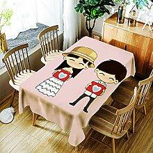JJHR Tischwäsche Wasserdichte Tischdecke Aus