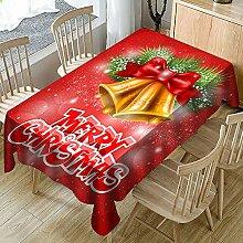 JJHR Tischwäsche Weihnachtstischdecke Rosa