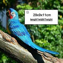 JJJJD Harz Papagei Statue Wandmontierte DIY