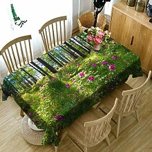 JJLESUN2 Draußen Blumen Tischdecke Wasserdichte