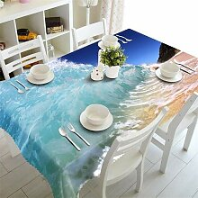 JJLESUN2 Tischdecke Weiß Polyester Wasserdicht