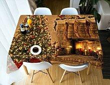 JJLESUN2 Weihnachtsbaum-Tischdecke Tischdecke