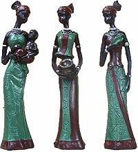 JJZSDSMW Afrika Figur Skulptur, Harz Puppe