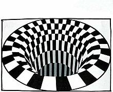 JJZZ 3D Swirl Print Optische Täuschungsbereiche