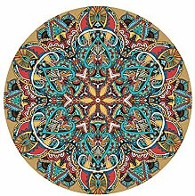 JJZZ Marokko Ethnischer runder Teppich für