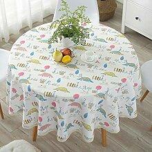 JKHSZKHH Tischtuch für PvcPastoral PVC Runde