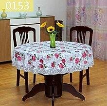 JKHSZKHH Tischtuch für PvcPvc Runde Tischdecke