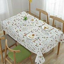 JKHSZKHH Tischtuch für PvcPvc wasserdichte
