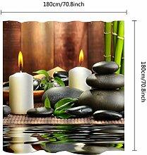 JKYIUBG Badematte Wasserdicht Bad Bambus Stein