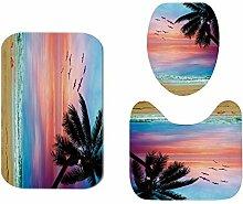 JKYIUBG Bath mat Seaside Print rutschfeste