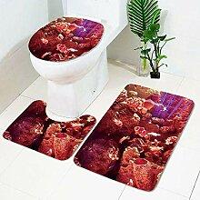 JKYIUBG Bath mat Unterwasserwelt Toilette Teppich