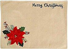 JKZX 2pc Weihnachten Platzdeckchen Festliche