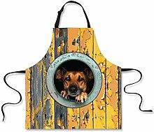 JLCP Küchenschürze, süße Katze und Hund