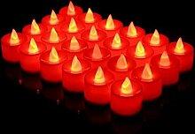 JLFDHR Neue 24 Stücke LED Kerzenlampe Multicolor