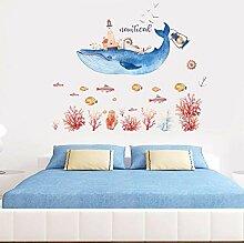 JLZK CartoonWandaufkleber Für Wohnzimmer