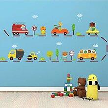 JLZK Cartoon Animal Car Wandaufkleber Für