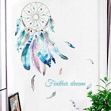 JLZK Dreamcatcher Wandaufkleber Für Schlafzimmer