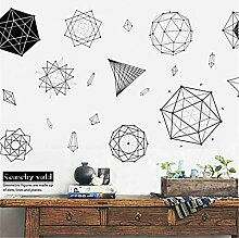 JLZK Geometrische Muster Polygon Wandaufkleber