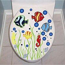 JLZK Toilette Bad Aufkleber Wasserdicht Home