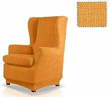 JM Textil Bielastische Husse für Ohrensessel Bastet Größe 1 Sitzer (Standard), Farbe 09