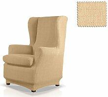 JM Textil Bielastische Husse für Ohrensessel Bastet Größe 1 Sitzer (Standard), Farbe 01