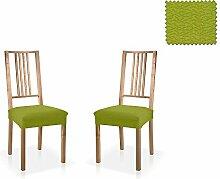 JM Textil Bielastische Stuhl-Husse Blaki, zweier Pack, Größe Standard (45cmx45cm), farbe 04