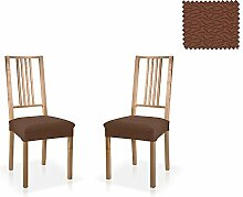 JM Textil Bielastische Stuhl-Husse Blaki, zweier Pack, Größe Standard (45cmx45cm), farbe 07