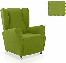 JM Textil Elastische Husse für Ohrensessel Alana Größe 1 Sitzer (Standard), Farbe 04