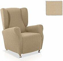 JM Textil Elastische Husse für Ohrensessel Alana Größe 1 Sitzer (Standard), Farbe 01